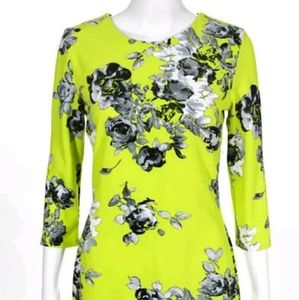 ASOS green and black sheath dress